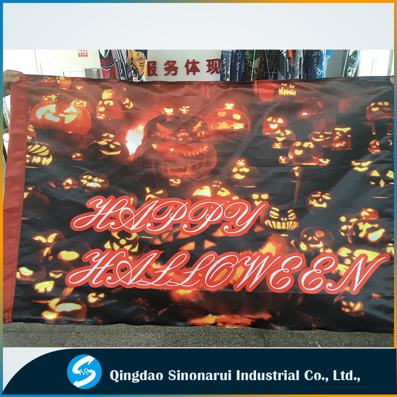 New design Festival flags manufacturer Halloween decoration banners