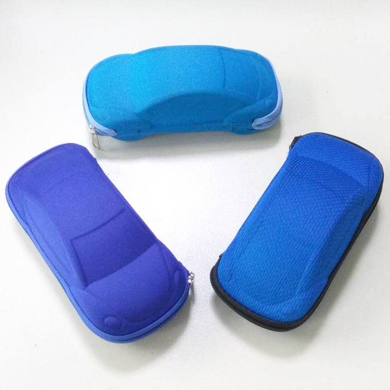 Cute Car Shape Kids Eyeglasses Neoprene Pencil Case