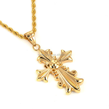 Mens gold cross pendants stainless steel design pendant men cross mens gold cross pendants stainless steel design pendant men cross for christmas p610g mozeypictures Choice Image