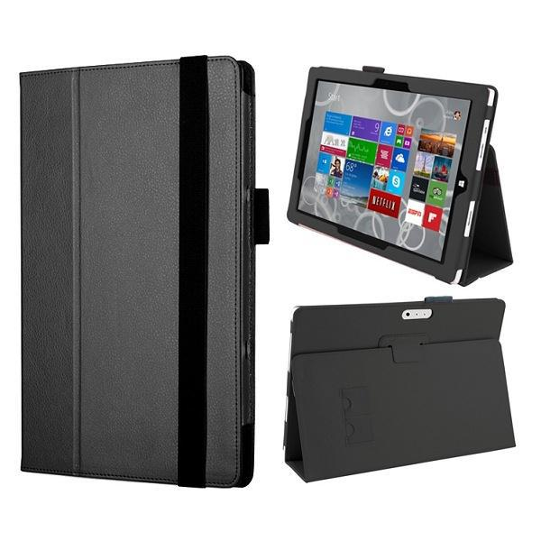 Newest Flip PU Leather Case Cover for Microsoft Surface Pro 4 Case with Elastic Belt