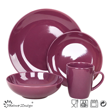 Purple Dining Table Set/solid Color Dinner Set