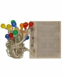 Multi Colored Globe LED Battery Operated Lights [1636600]
