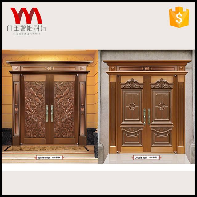 Superior Good Quality Double Entry Copper Fire Front Main Door
