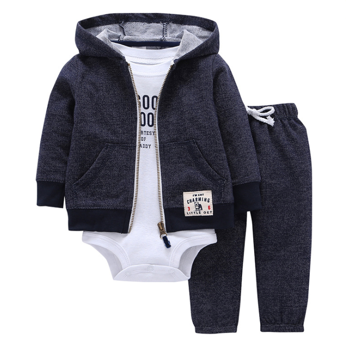 YY10068A Baby girls and boys clothing sets 2018 autumn baby clothes suits long sleeve 3pcs baby boy romper set