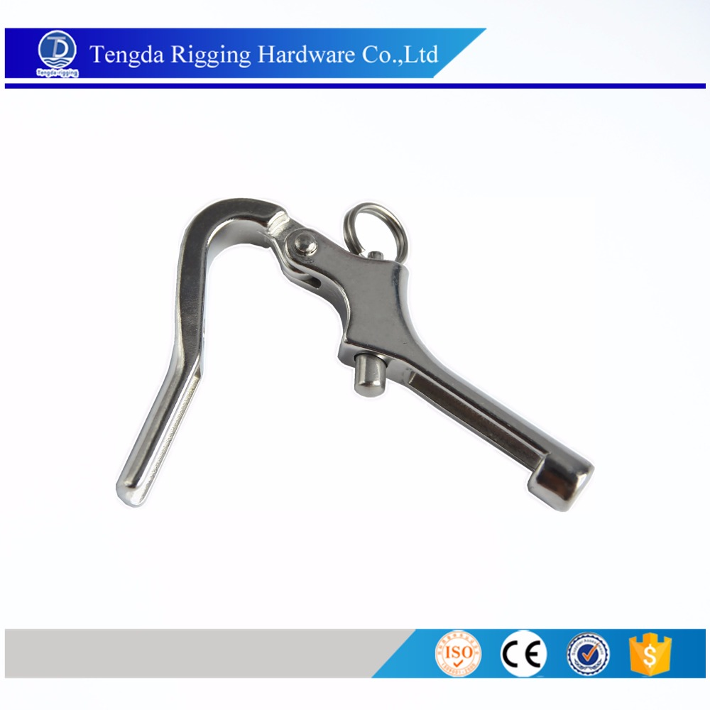 Stainless Steel rigging Sailboat wire rope pelican hook terminal
