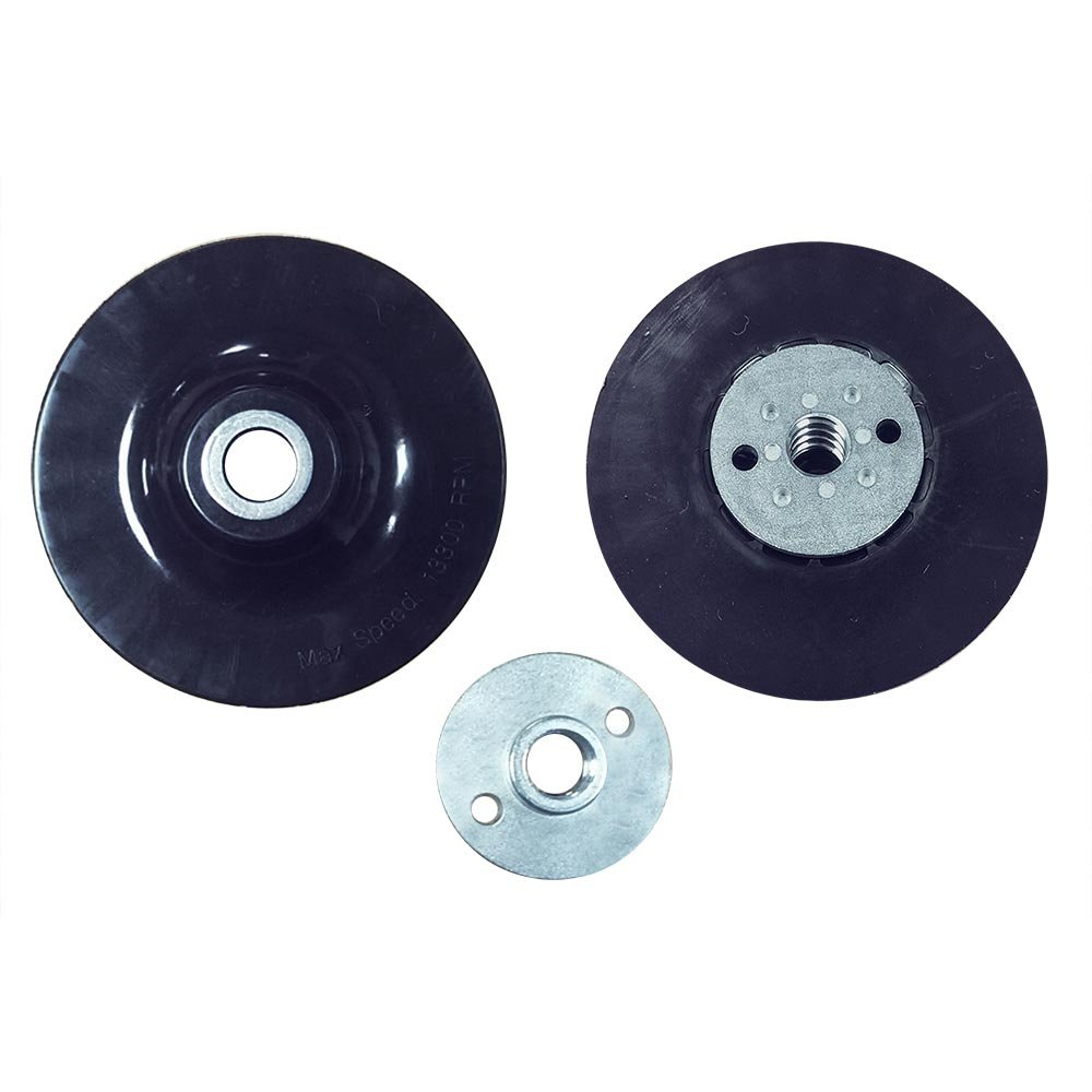 Superior Pads and Abrasives BP45 4.5 inch Angle Grinder Backing Pad for Resin Fiber Disc with 5/8 inch-11 Locking Nut