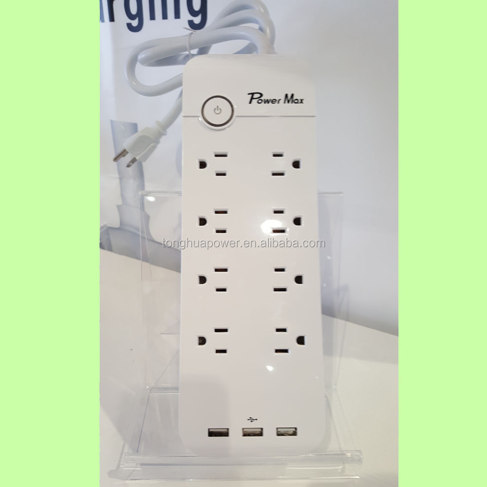 6-Outlet Power Strip Surge Protector 6-Foot Cord with 8 Smart USB For iphone, samsung, nokia, htc