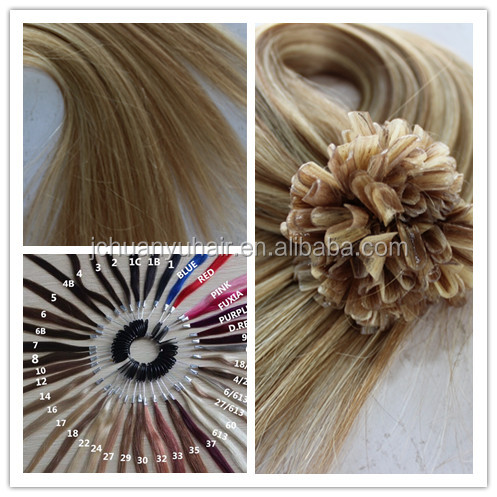 Factory price 0.8g/strand ,20inch double drawn U tip hair extension , good Itlay glue.easy to remove
