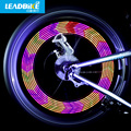 Leadbike Bicycle light Accessories New 14 LED Motorcycle Cycling Bike safety Wheel Light Signal Tire Spoke