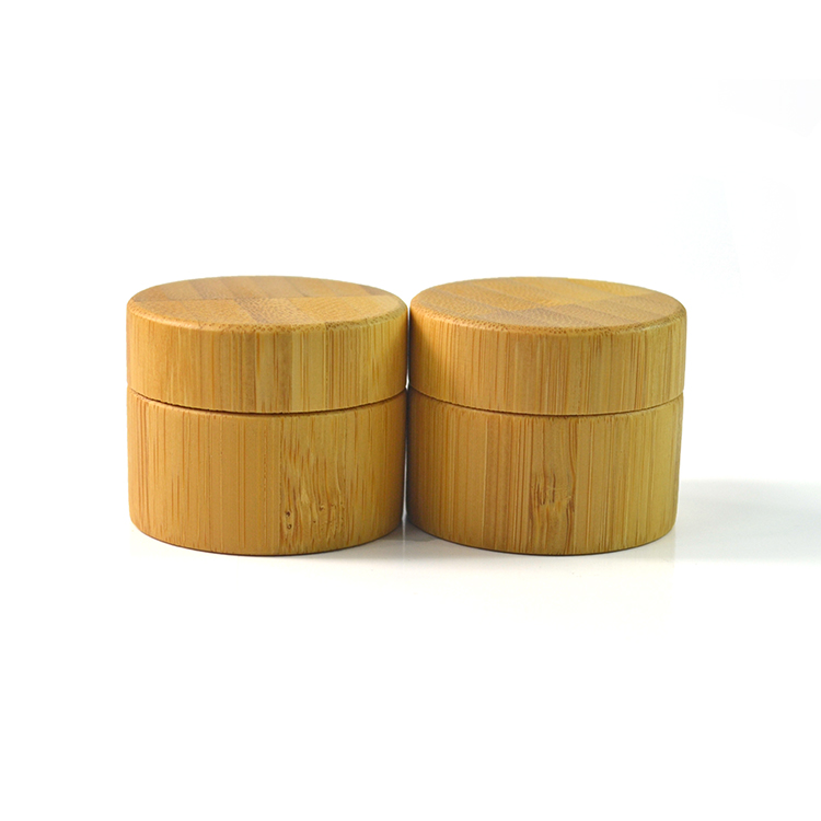wholesale 15g bamboo wood cosmetic jars for cosmetic packaging