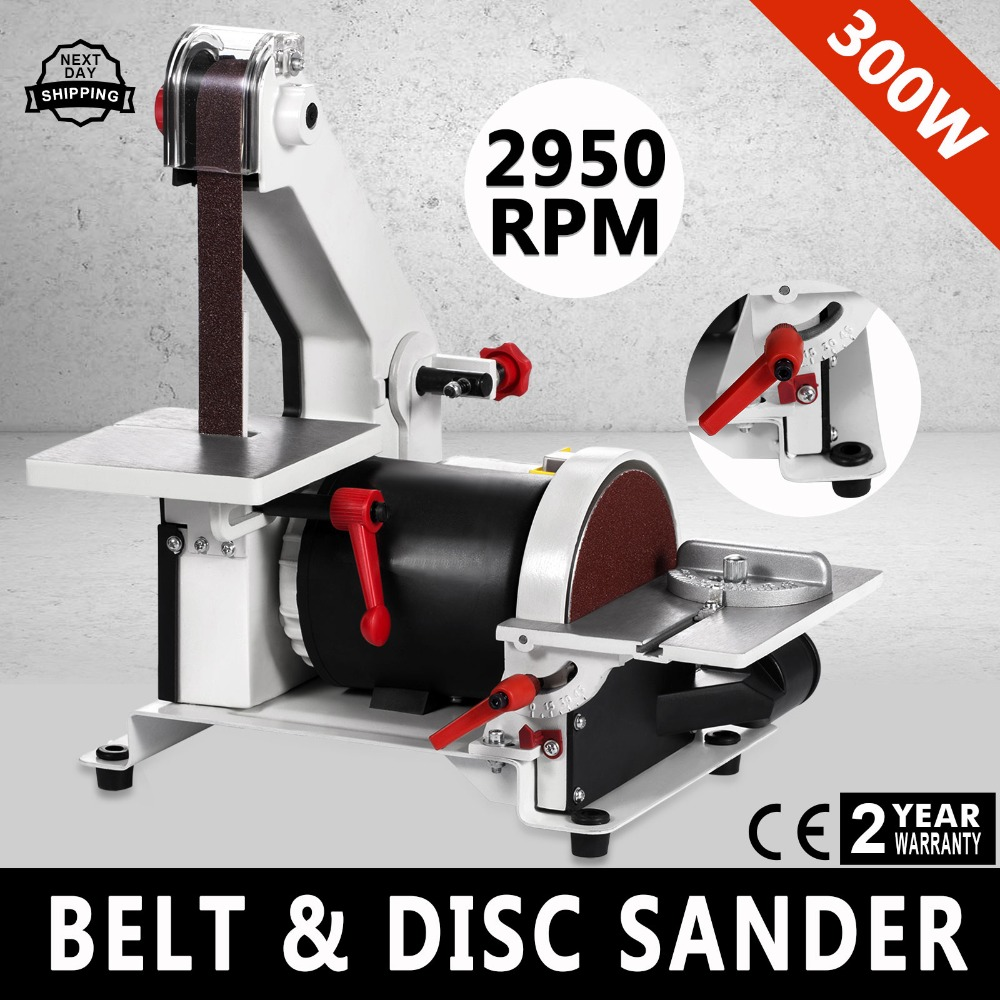 "1"" x 5"" Belt Disc Linisher Sander 300W Power Tool Grinder Tilting Table POP ,belt sander machine"