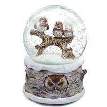 Regali & Mestieri Della Resina 100mm Musicale Snow Globe, gufi in Inverno <span class=keywords><strong>Neve</strong></span>