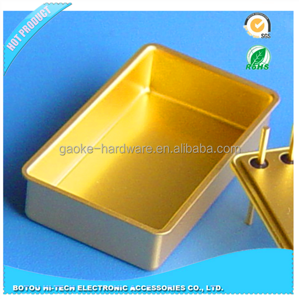Kovar material of gold coating type crystal oscillator can