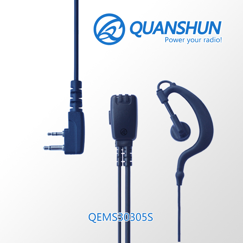 2-way radio police ear communication wire connectors microphone headset