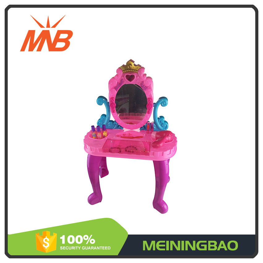 Dressing table fashion girls beauty game play set 2017 trending toys with chair
