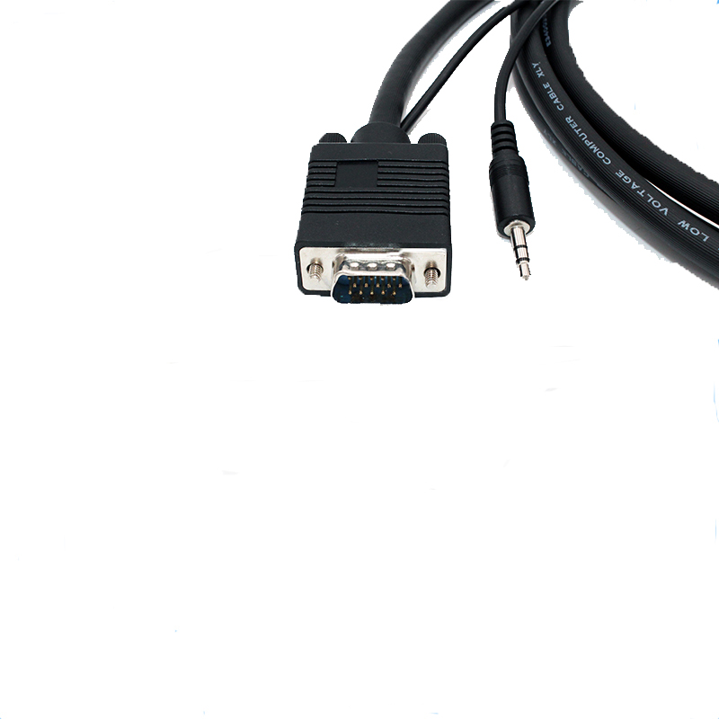 Hot sale VGA Male to Male with Audio cable