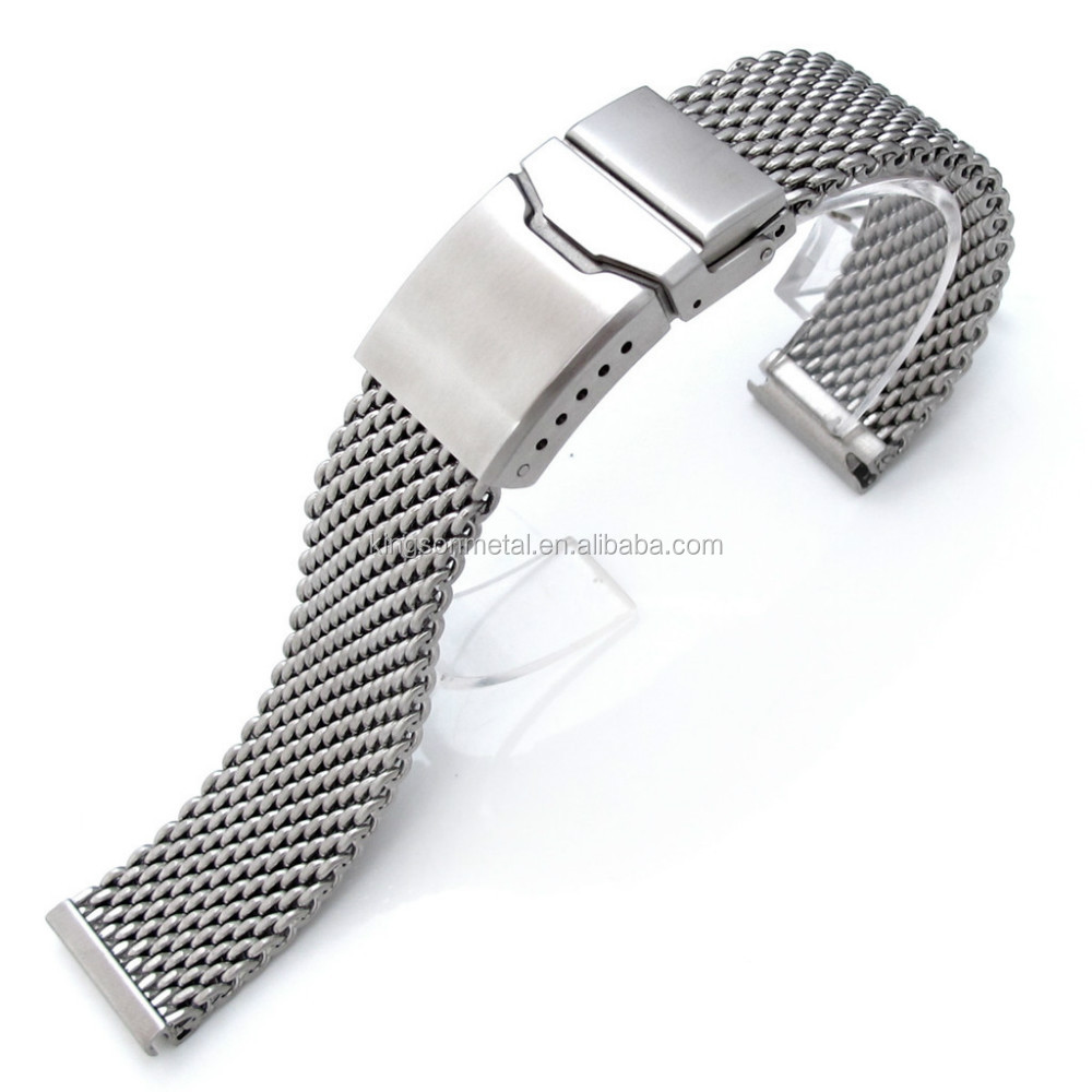 b8f78af92455 20 mm22mm mesh watch band adjustable milanese style
