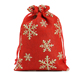 cheap most popular cute christmas jute sugar drawstring gift bag