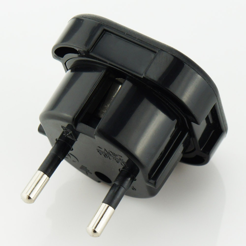 2 Pin To 3 Pin Electric Shaver Plug Adaptor For Bathroom