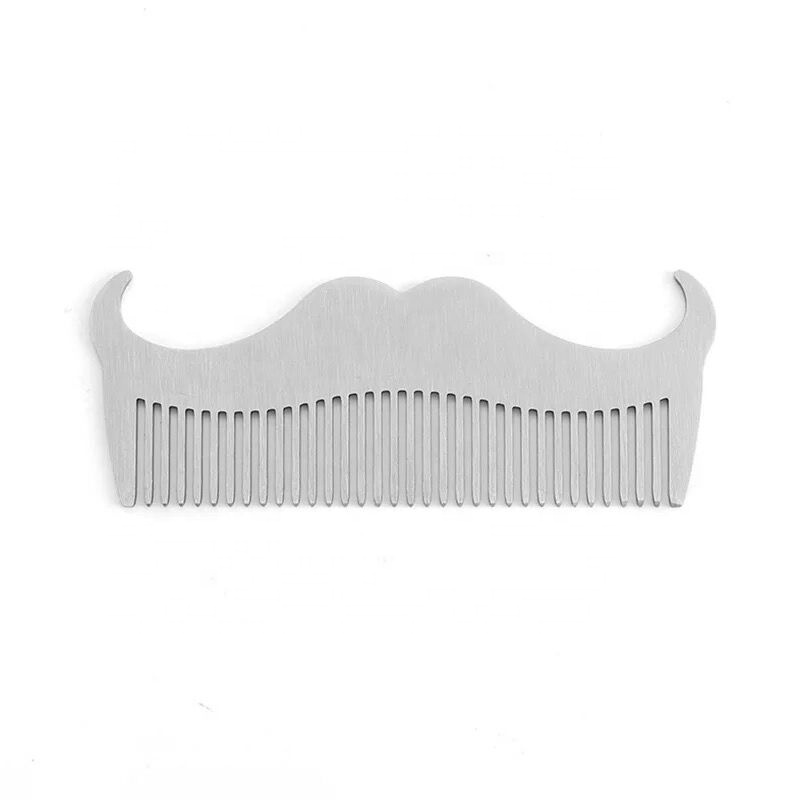 JDK Men Goatee Beard Shape <strong>Comb</strong> Stainless <strong>Steel</strong> Salon <strong>Hair</strong> <strong>Comb</strong>