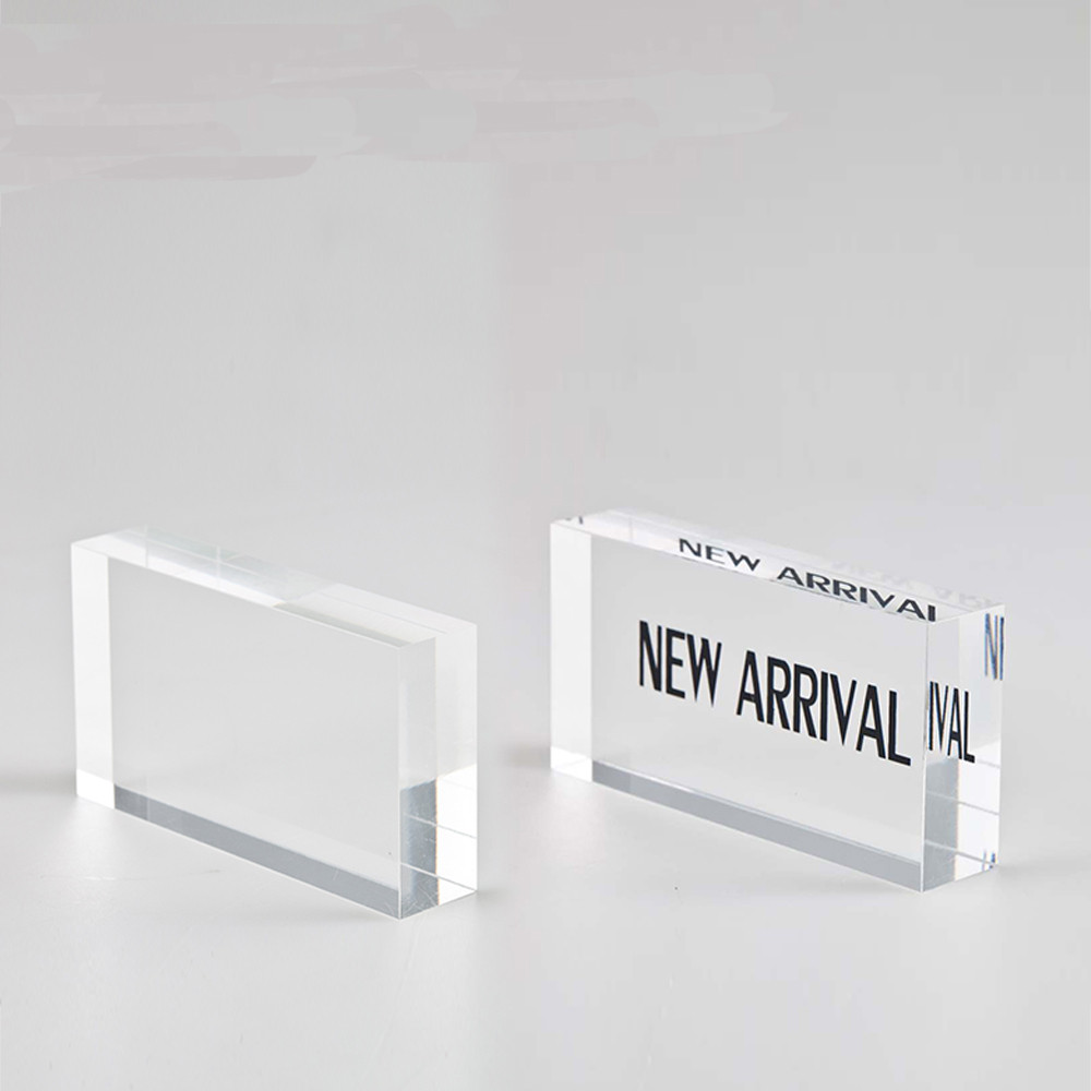 Acrylic custom shaped sign block plexiglass block print for Where to buy lucite