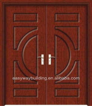 2014 exterior carved wooden door designs double panels for Main door designs 2014