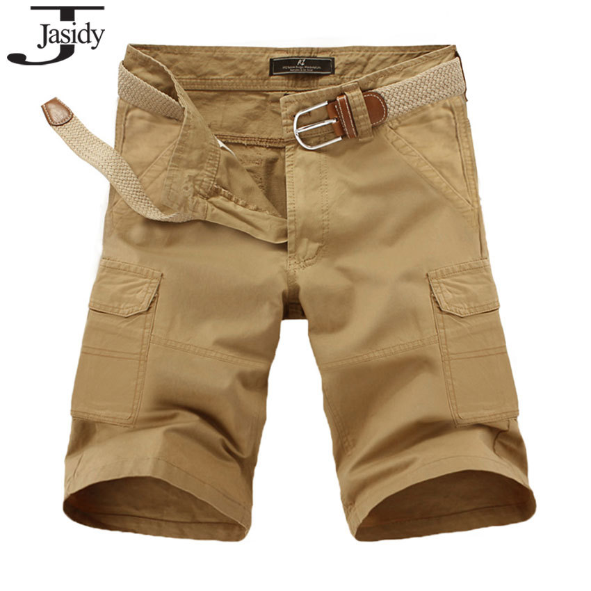 ddb39e9fd6 Get Quotations · 28-38 Solid Cotton Plus Size jean cargo shorts Men Casual  Pockets Straight Military Shorts