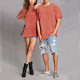 Unisex Women And Men Plain Distressed Tee Design Oversized T Shirt
