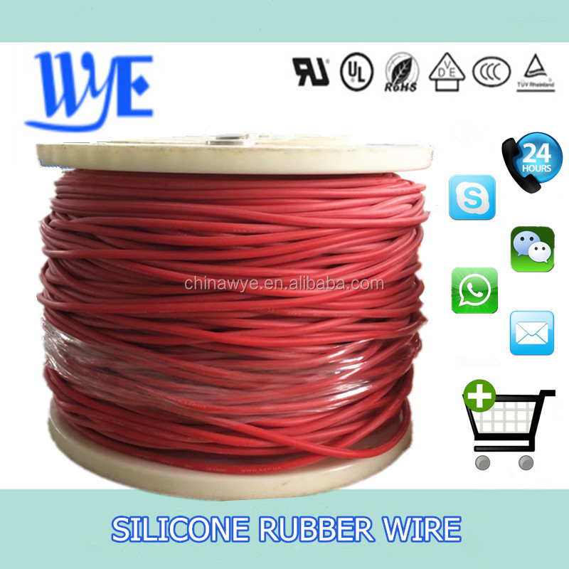 3KV AWG 22 Low Price And Widely Use Of High Tension Silicone Rubber Electrical Wire Cable UL3239