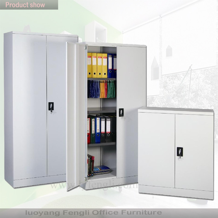 Wholesale Office Filing Cabinet 2 Swing Door Steel Cupboard with 4 Shelves