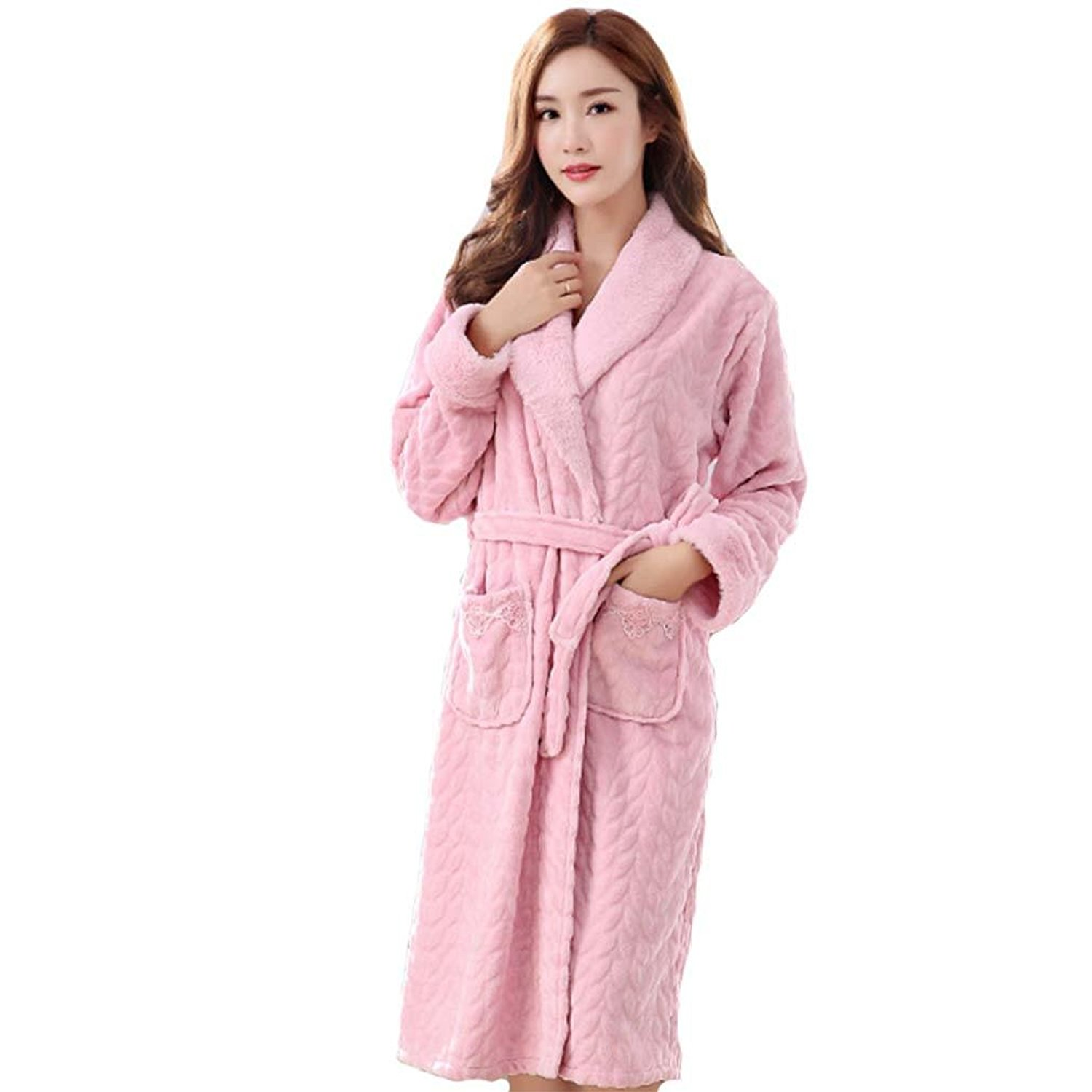 Get Quotations · moxin Ladies Dressing Gown Terry Towelling Flannel  Bathrobes 100% Cotton Robe a19618f96