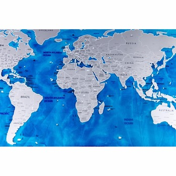 2017 luxury new edition pvc ocean world scratch map blue design 2017 luxury new edition pvc ocean world scratch map blue design world travel map scratch off gumiabroncs Image collections