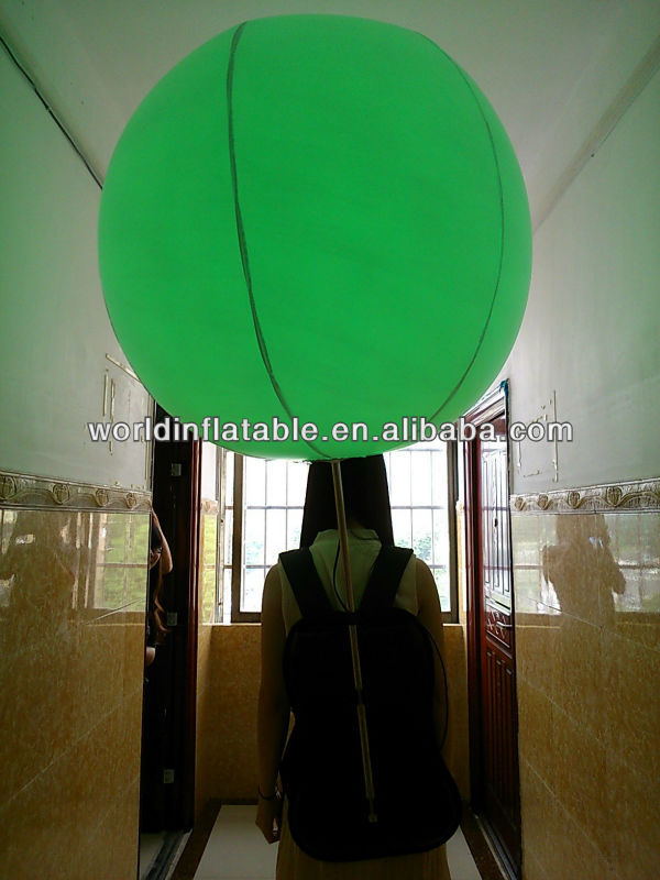 Best sale inflatable led light baloon backpack for promotion