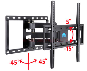 full motion 30inch 42INCH 55inch 60inch retractable led tv wall mount dual arm lcd bracket stand plasma holder