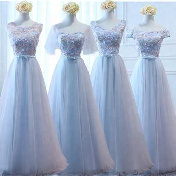 2ce65e149620 Sky Blue Long Floor Length Soft Chiffon Infinity Cheap Wedding Party  Bridesmaid Dress