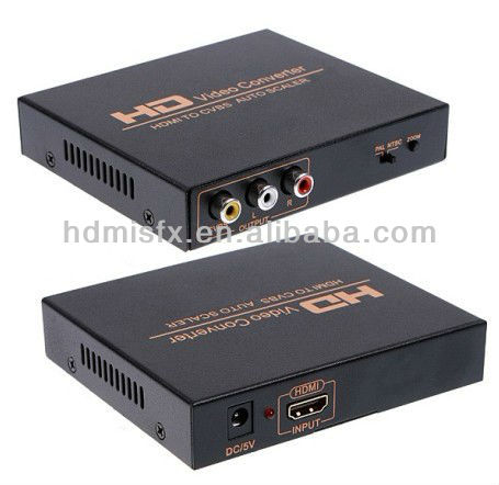 HDMI to CVBS signal converter convert HDM video signal or audio signal to AV (CVBS) composite video signal