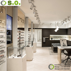 Commercial Retail Eyewear Store Display Furniture 3D Max Showroom Optical Shop Interior Design