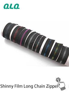QLQ Commercio All'ingrosso di nylon/metallo/plastica impermeabile lunga catena della chiusura lampo con DELL'UNITÀ di elaborazione/TPU/PVC rivestito di acqua- materiale resistente