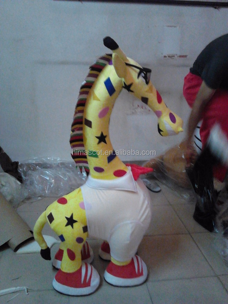 1 meter big plush yellow giraffe stuffed toy for furnished and decorated