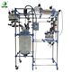 100 liter Double Glass Reactor for ethanol extraction in oil extraction