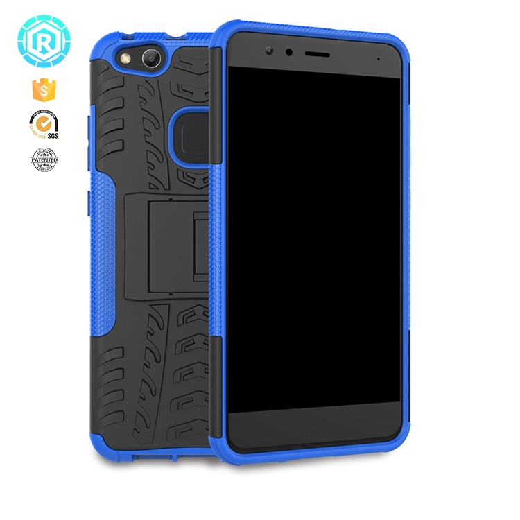 hot selling outdoor pc tpu cover case for huawei p10 lite dustproof kickstand case for huawei p10 lite