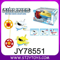 mini plastic rc toy airplane with light and sound
