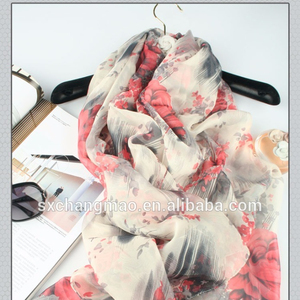Long Fashion Soft Silk Shawl Wrap Scarves Polyester Scarf Chiffon Scarves