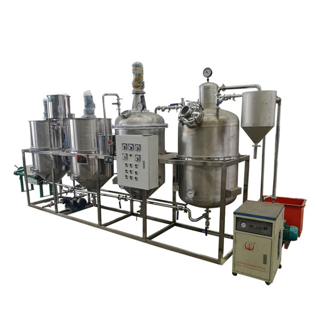 Deodorization, Degumming, Deacidification, Decolor cooking oil refinery machinery price, China crude oil refinery buyers