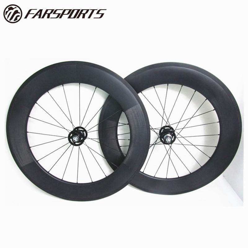23 88 tubular road carbon track bicycle wheels with disc brake hub, using Novatec hub and Sapim spokes