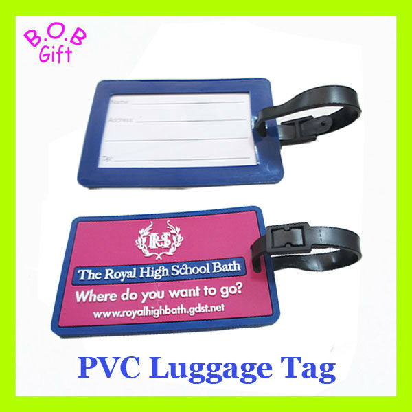 2015 customer Rubber soft PVC luggage tag