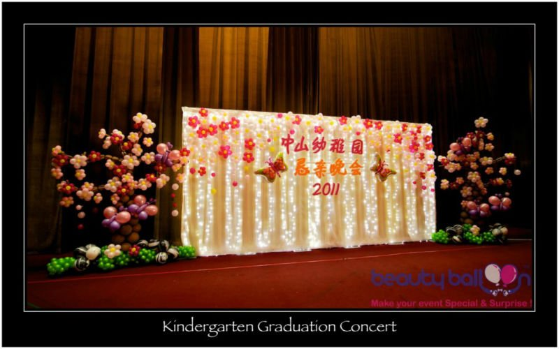 Kinder graduacion concierto decoración