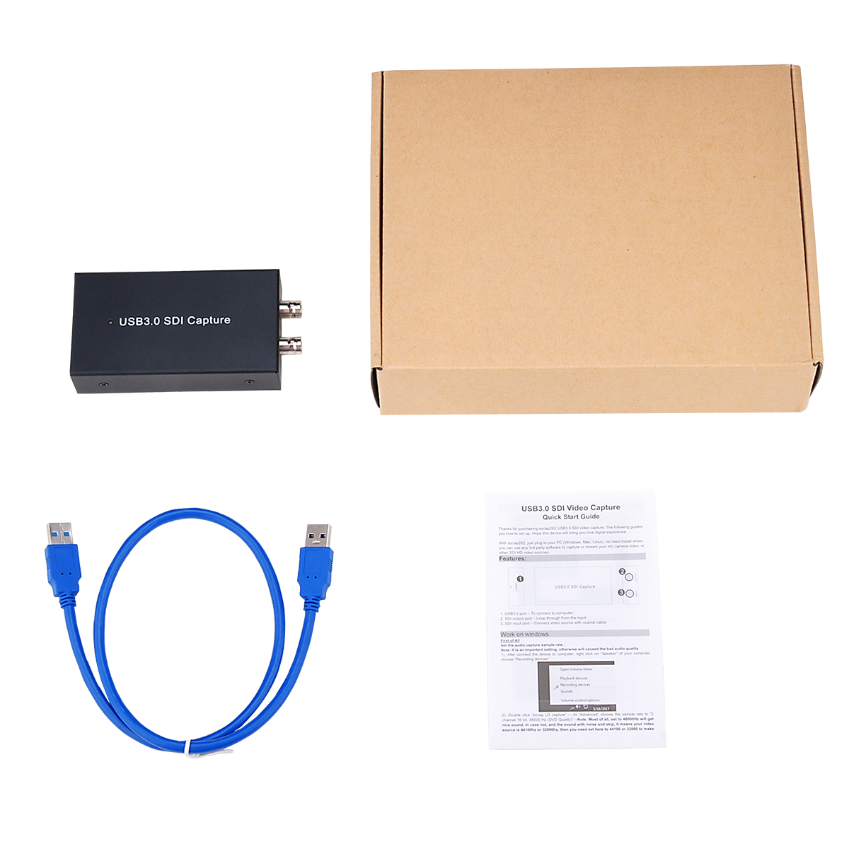 SDI to USB3.0 HDMI video capture card Full HD 1080P Live Streaming ezcap262