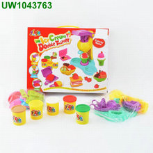 Large size Creative Play Dough toy 8 colors DIY 3D mud Plasticine extrusion mould machine hamburger kids toys