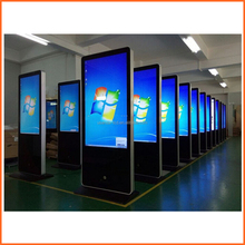 led advertising display screen/2012 the popular stand alone touch 55 screen kisok